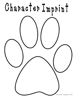 Paw-Print Book Template