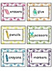 Paw Print Classroom Supply Labels