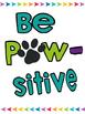 Paw Print Motivational Posters FREEBIE!