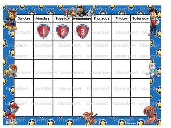 Paw patrol Calendar Set