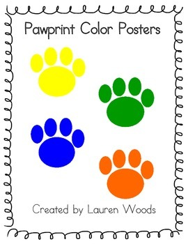 Pawprint Color Posters