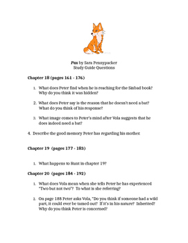 Pax by Sara Pennypacker Chapters 18-34 Reading Questions