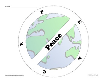 Peace Day - Peace Acrostic Poem Template FREEBIE - FREE