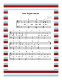 Peace Begins With Me Sheet Music (also called Peace For Th