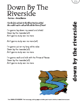 Peace Songs For Kids: Down By The Riverside (Lyric Sheet)