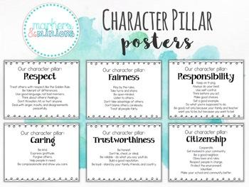 Six Character Pillar Posters