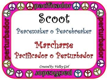 Peacemaker / Peacebreaker: SCOOT Back to school Spanish Ru