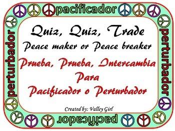 Peacemaker / Peacebreaker: Quiz, quiz, trade Spanish Rules