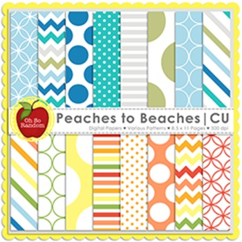 Peaches to Beaches {Papers for Commercial Use}