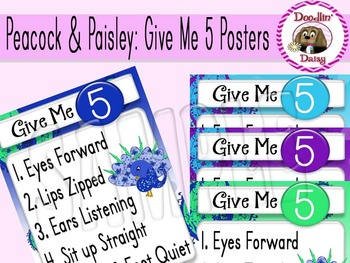 Peacock & Paisley: 'Give Me 5' Posters