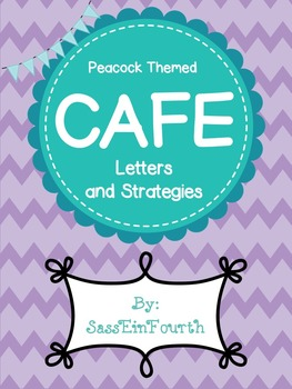 Peacock Themed CAFE Letters and Strategies