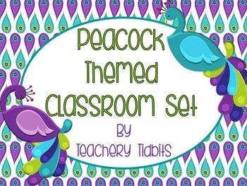 Peacock Themed Classroom Set {EDITABLE}