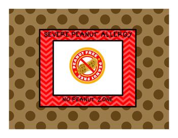 Peanut Allergy Poster
