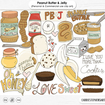 Peanut Butter & Jelly Clip Art - Banana - Chocolate - Cook