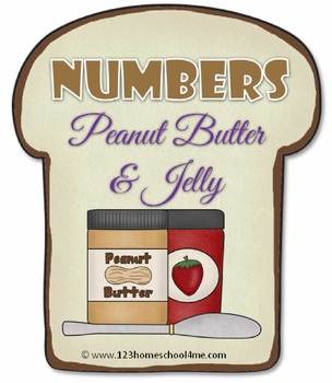 Peanut Butter & Jelly Number Sandwiches