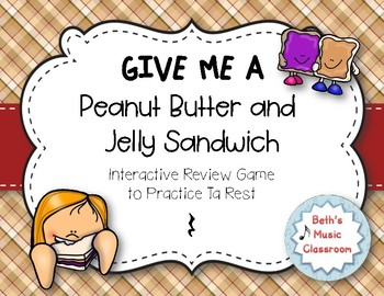 Peanut Butter & Jelly Sandwich Rhythm Reading Game - Ta re