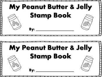 Peanut Butter & Jelly Stamp Book {FREEBIE}