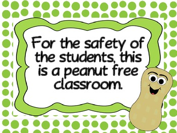 Peanut Free Poster