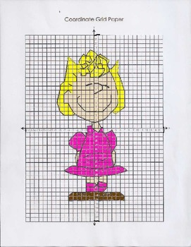 Peanuts Series Coordinate Graphing Sally