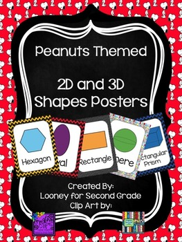 Peanuts Themed 2D and 3D Shape Posters