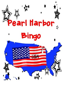 Pearl Harbor Bingo and Scavenger Hunt Combo Pack