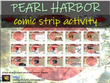 Pearl Harbor Comic Strip Activity - visual, fun, engaging
