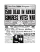 Pearl Harbor Newspaper Headlines Lesson Plan
