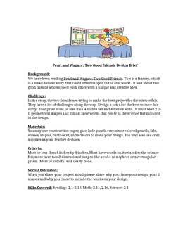 Pearl and Wagner STEM Children's Engineering Design Brief