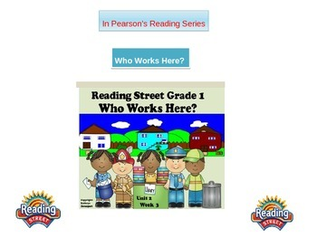 """1st grade Unit 2 story 3 words """"Who Works Here?"""""""