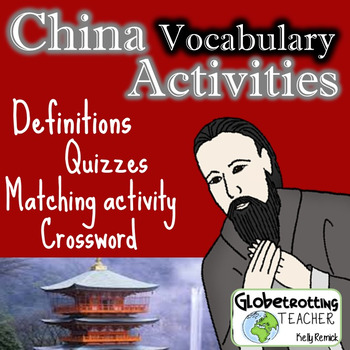 Pearson-My World History-CHINA Vocabulary Definitions, Mat