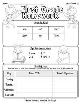 Pearson Reading Street Homework Cover Sheets Unit R