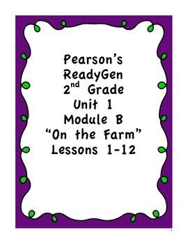 Pearson's Ready Gen 2nd grade, Unit 1 Module B: Lessons 1