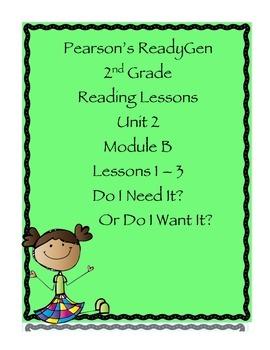 Pearson's Ready Gen 2nd grade, Unit 2 Module B: Lessons 1-3