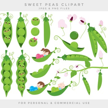 Peas in a pod clip art sweet peas clipart baby flowers swe