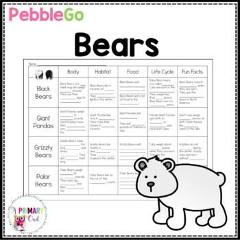 Pebble Go: Bear Research