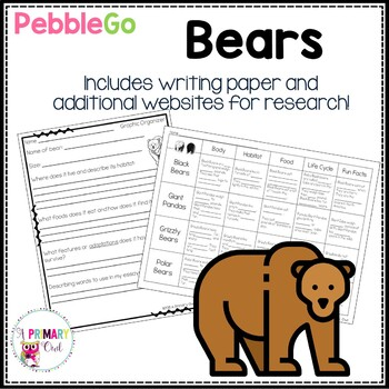 Pebble Go Research Writing Project: Bears