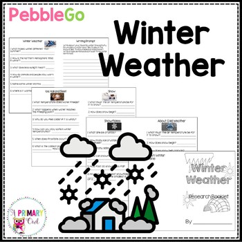 Pebble Go Winter Weather Research Booklet