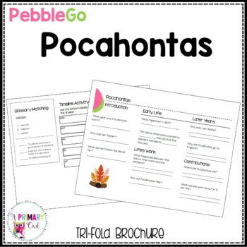 Pebble Go research brochure: Pocahontas