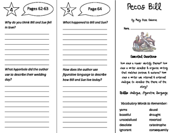 Pecos Bill Trifold - ReadyGen 4th Grade Unit 2 Module A