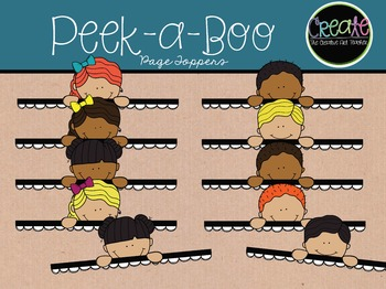 Peek-a-Boo Page Toppers - Digital Clipart