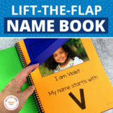 Name Activity Template for Class ABC Lift the Flap Book