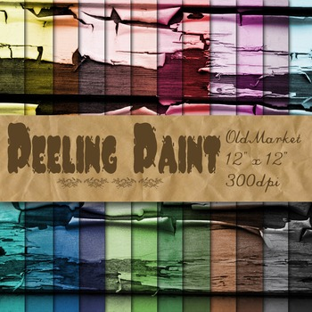 Peeling Paint Textures - Digital Paper Pack - 24 Different