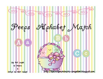 Peeps Alphabet Match