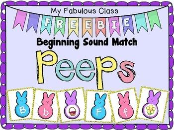 Peeps-Beginning Sound Freebie