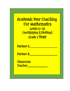 RTI Peer Coaching for Mathematics - Grade 3 Multiplication
