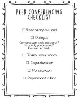 Peer Conferencing Checklist