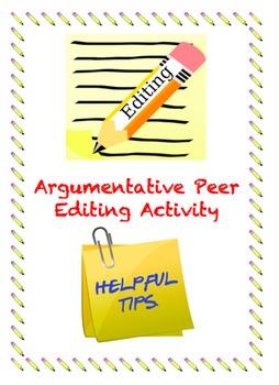 Peer Editing Activity - ARGUMENTATIVE ESSAY