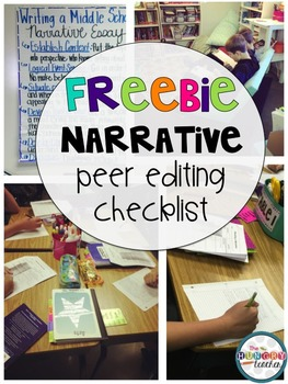 Peer Editing Checklist Freebie