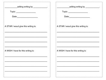 Peer Editing Form