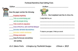 Peer Editing Review Sheets for CCSS Writing